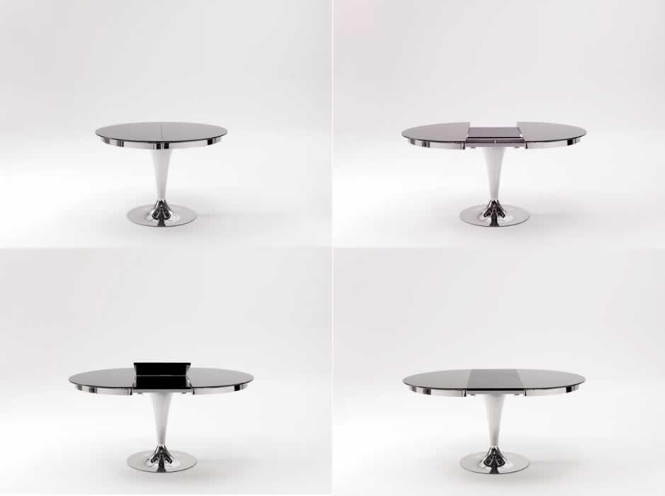 Awesome tavolo tondo allungabile gallery acrylicgiftware - Tavolo tondo allungabile calligaris ...