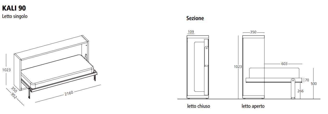 Awesome Letto Singolo Dimensioni Ideas - Idee Arredamento Casa ...